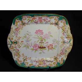 Plat porcelaine Sarreguemines forme rectangle décor n° 248