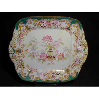 Plat porcelaine Sarreguemines forme rectangle décor n° 248