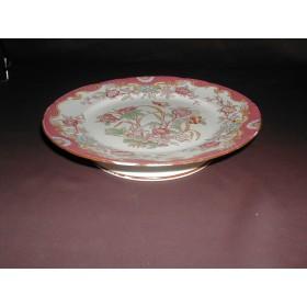 Assiette sur pieds porcelaine Sarreguemines décor n°216