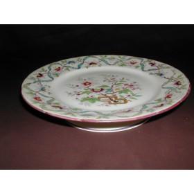 Assiette sur pieds porcelaine Sarreguemines minton n°211