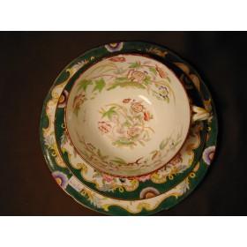 Genieu avec assiette Porcelaine Sarreguemines décor 215