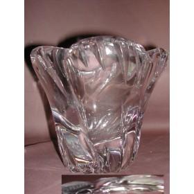 Vase Daum en cristal D18 hauteur 13 cm Daum Croix lorraine Nancy France