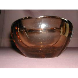 Cendrier en cristal marron Daum Nancy France